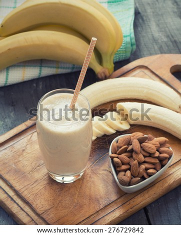 Banana Smoothie - stock photo