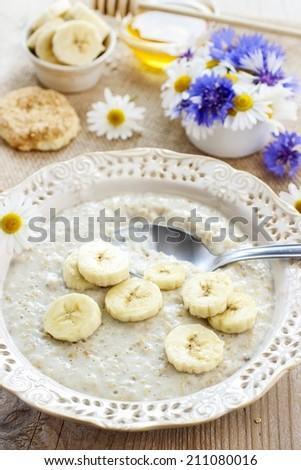 Banana soup - stock photo