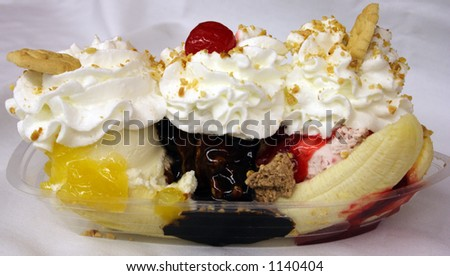 Banana Split - stock photo