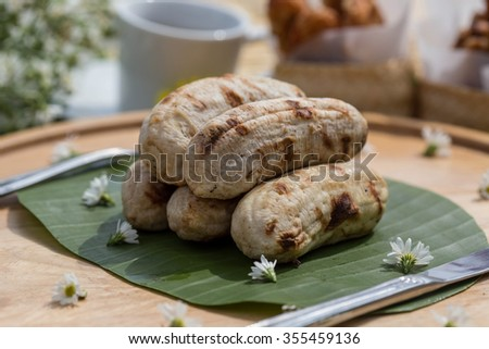 Banana Thai dessert style. - stock photo