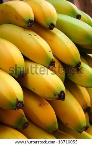 Bananas in the market - stock photo