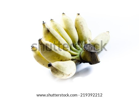 Bananas with isolated on white background - stock photo