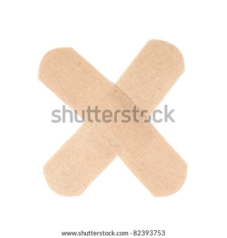 Band aids i on white background