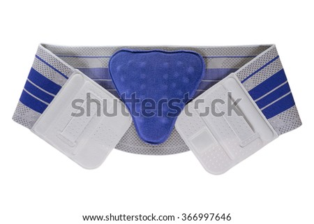 Bandage for the back isolated over a white background / Bandage - stock photo