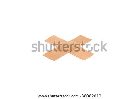 Bandage isolated on a white bg - stock photo