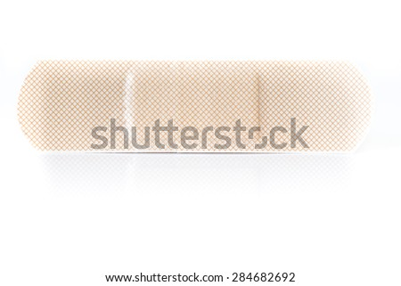 Bandage plaster isolated on white background - stock photo