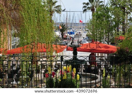 Bandol, France - april 20 2016 : the picturesque city in spring