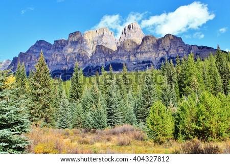 Banff , Alberta - stock photo