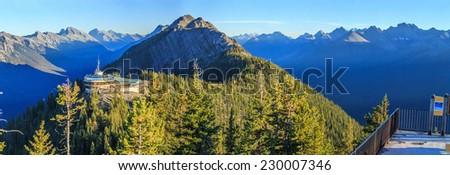 Banff Gondola, Alberta, Canada - stock photo