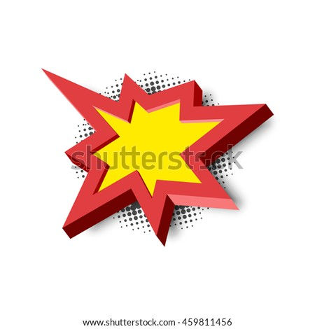 Bang explosion sign with 3D style and shadow - stock photo