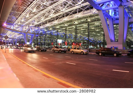 Bangkok airport - stock photo
