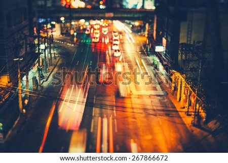 Bangkok at Night - stock photo