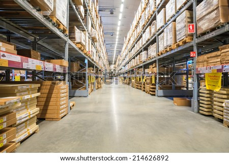 BANGKOK - August 30 , IKEA store in Mega Bangna bangkok thailand on August 30, 2014. Founded in Sweden in 1943, Ikea is the world's largest furniture retailer. - stock photo