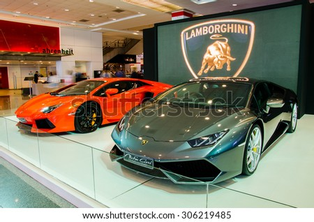 BANGKOK AUGUST Lamborghini Car On Stock Photo Edit Now - Car show displays for sale