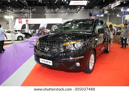 BANGKOK August Ssangyong Stavic Car Stock Photo Royalty Free - Car show displays for sale