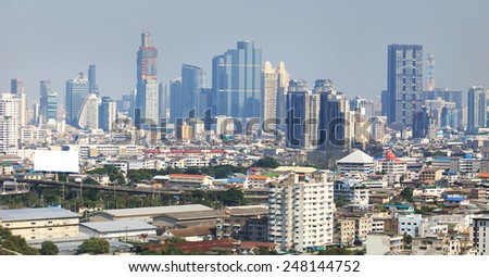 bangkok city - stock photo
