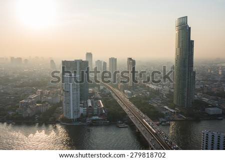 Bangkok City view - stock photo