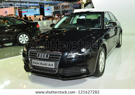 BANGKOK - DEC 3: Audi A6 on display at the Thailand International Motor Expo at Impact Muang Thong Thani on Dec 3, 2012 in Bangkok, Thailand. - stock photo