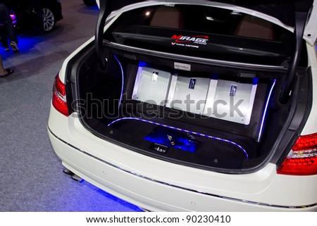 bangkok december 4 car audio show stock photo 90230455. Black Bedroom Furniture Sets. Home Design Ideas