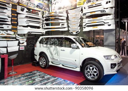 Bangkok December 4 Car Mitsubishi Pajero Stock Photo 90358096 ...