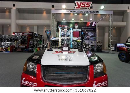 BANGKOK - DECEMBER 4 : YSS Suspension at Thailand International Motor Expo2015 (MOTOR EXPO 2015) exhibition of vehicles for sale on December 4, 2015 in Bangkok, Thailand. - stock photo