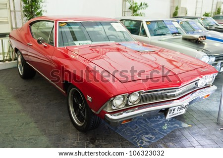 BANGKOK - JUNE 24 :Chevrolet Chevelle Super Pro-Touring (1968) on display at The 36th Bangkok Vintage Car Concours on June 24, 2012 in Bangkok, Thailand. - stock photo