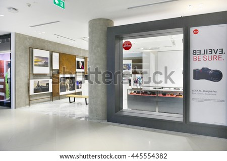 BANGKOK-JUNE 9 2016 :Leica shop in Siam Discovery after Siam Discovery has been renovated in new interior design. It is The new largest shopping mall in the center of capital.