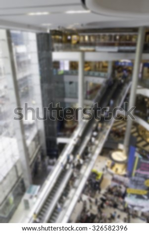 Bangkok Longest Escalator blurred for Background