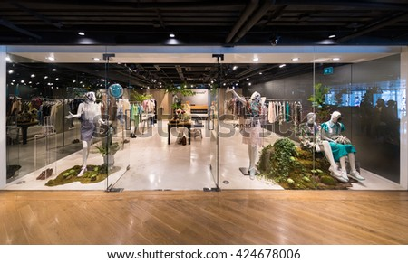 BANGKOK - MARCH 17, 2016 : A view at the Senada store in the Siam Center. It was built in 1973 and was one of Bangkoks first shopping malls.  - stock photo