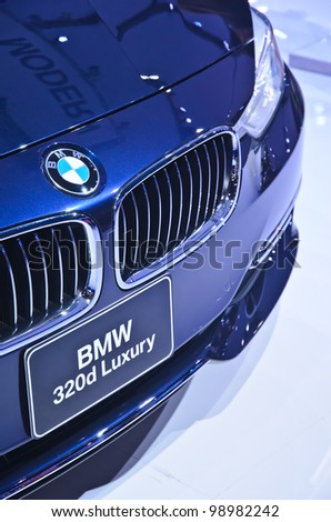 BANGKOK - MARCH 30: BMW 320d  car on display at The 33th Bangkok International Motor Show on March 30, 2012 in Bangkok, Thailand - stock photo