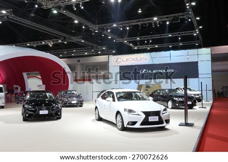 BANGKOK - MARCH 25: Showroom of Lexus car  at The 36 th Bangkok International Motor Show on March 25, 2015 in Bangkok, Thailand. - stock photo