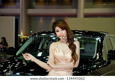 BANGKOK - MARCH 28 : The Rolls-Royce with Unidentified model on display at The 34th Bangkok International Motor Show 2013 on March 28, 2013 in Bangkok, Thailand. - stock photo