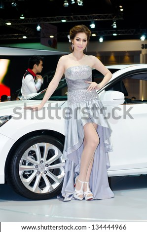 BANGKOK - MARCH 28 : Unidentified model on display at The 34th Bangkok International Motor Show 2013 on March 28, 2013 in Bangkok, Thailand. - stock photo