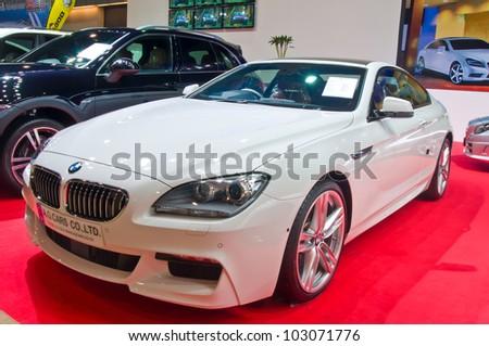 BANGKOK - MAY 20: BMW M6 sport car on display at the Super Car   Import Car Show at Impact Muang Thong Thani on May 20, 2012 in Bangkok, Thailand - stock photo