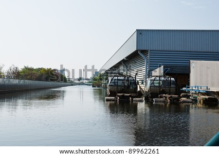 BANGKOK - NOV. 25: Factories damaged at Nava Nakorn Industrial, which is flooded for a period of 1 month on November 25, 2011 at Nava Nakorn Industrial Pathum Thani, Bangkok.
