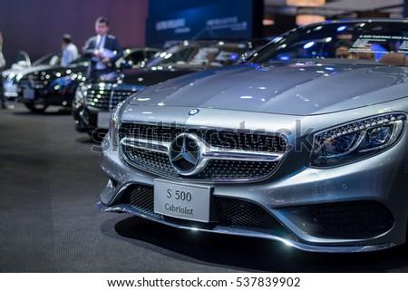 BANGKOK - November 30, 2016 : Mercedes-Benz car on display at Thailand International Motor Expo 2016, exhibition of vehicles for sale on November 30, 2016 in Bangkok, Thailand.