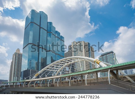 Bangkok, Sathon that is center of financial in Thailand - stock photo