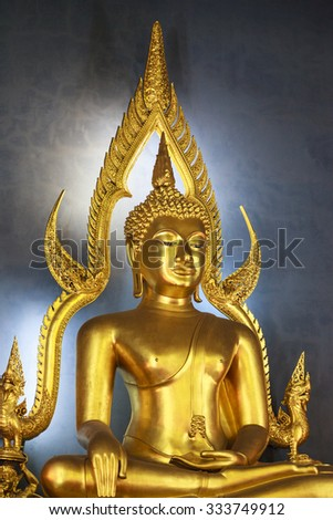 BANGKOK, THAILAND - APRIL 25 2014: Bangkok prepares at the shrine of the four-faced Brahma (Phra Phrom) on April 25, 2014 at Erawan, Bangkok, Thailand. Buddhism is an important and peaceful religion. - stock photo