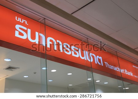 BANGKOK THAILAND - APRIL 22, 2015: Thanachart Bank. Thanachart Bank is the 6th largest bank in Thailand