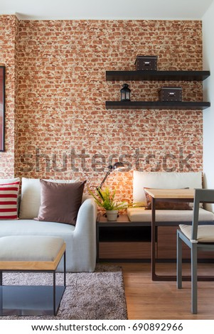 Bangkok, Thailand : 28AUG15 - Modern Residence design with furniture and interior  design setting before