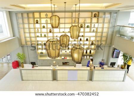 Bangkok, Thailand - August 16, 2016: Interior view of Centra Central  Stations Bangkok