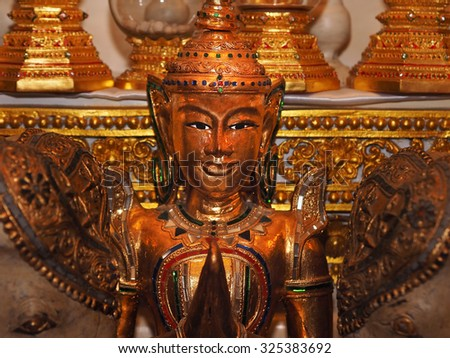 BANGKOK ,THAILAND - August 19 : masterpiece of traditional Thai style moled, stucco of The Buddha Body at Buddhist Common Place on August 19, 2015 in Bangkok, Thailand - stock photo