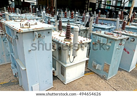 BANGKOK-THAILAND-AUGUST 5 : The Distribution transformer on store, August 5, 2016 Bangkok, Thailand