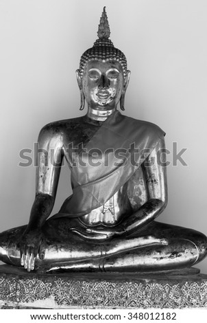 BANGKOK, THAILAND-CIRCA DECEMBER 2011: Buddha statue from temple in Thailand. The statue are worshipped as Buddha's image on circa December 2011