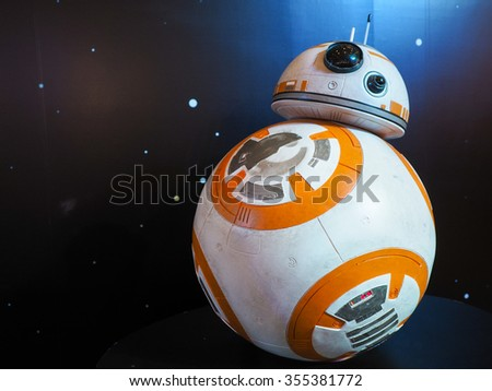 BANGKOK, THAILAND - DECEMBER 2015 : Star wars 7 model displayed in star wars 7 roadshow at Bangkok - stock photo