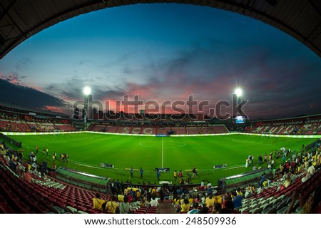 BANGKOK, THAILAND - DECEMBER 05:Views of SCG Stadium during the Global Legends Series match, at the SCG Stadium on December 5, 2014 in Bangkok, Thailand.