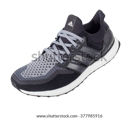 adidas shoes 2016. bangkok, thailand - february 17,2016: adidas ultra boost sports shoes for running 2016