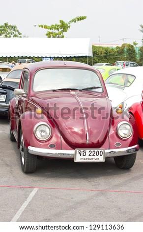 BANGKOK, THAILAND - FEBRUARY 17 : Volkswagen retro vintage car in  Siam VW festival 2013 on  February 17, 2013 in Bangkok Thailand. - stock photo