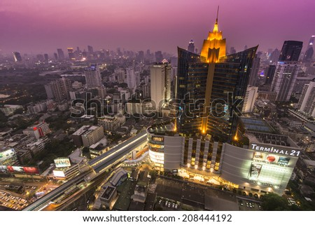 BANGKOK, THAILAND - JAN 4: Terminal 21, famous shopping mall, located near Asoke intersection on January 4, 2014 in Bangkok,Thailand.