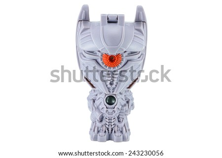 Bangkok, Thailand - January 11, 2015 : Shockwave toy character from TRANSFORMERS Movie series. There are toy sold as part of Burger King Toys.